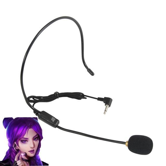 LOL KDA Cosplay Akali Ahri Kaisa Microphone - The Night