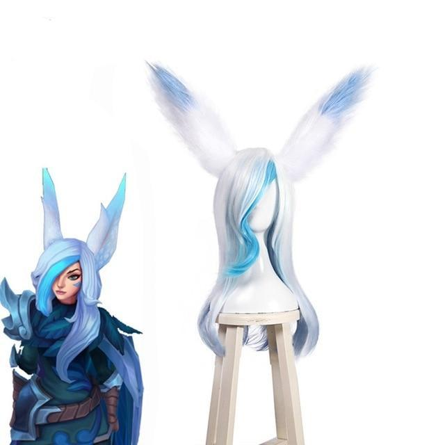 LOL Xayah Cosplay Hair Blue and White 60CM - The Night
