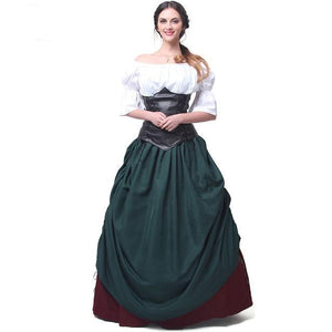 Woman's Retro Dress Renaissance Medieval - The Night