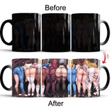 Sexy Butt Mug  Changing Color - The Night