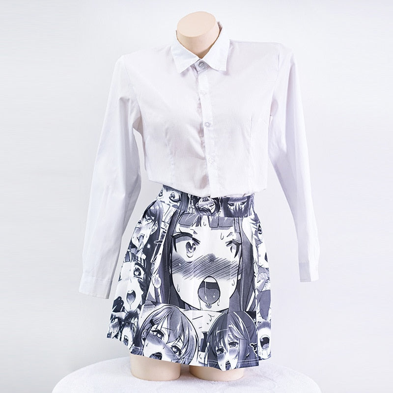 Sexy Women Mini Skirt Role Cosplay Vintage Kawaii - The Night