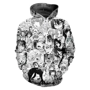 ahegao Funny Hoodie - The Night