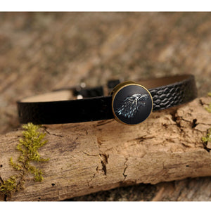GOT  Bracelets & Bangles Stark Wolf Art Glass - The Night