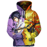 Naruto 3d Hoodies - The Night
