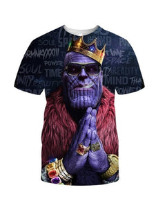 Fashion Men's T Shirt Infinity-Thanos - The Night
