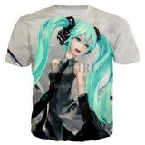 Hatsune Miku 3d t-shirts - The Night