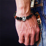 Gold and Silver Plated Dragon Ball Bracelets - The Night