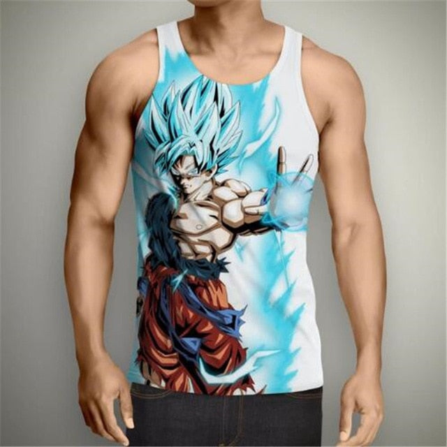 Dragon Ball T-shirt Super Saiyan 3d Fitness - The Night