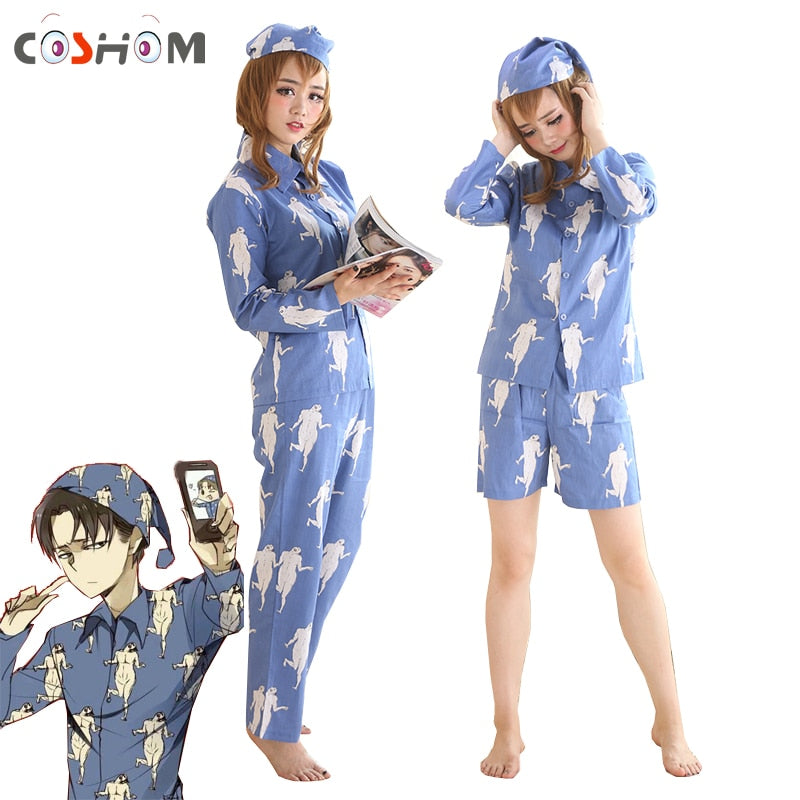 Levi Pajamas Sleepwears Attack on Titan - The Night