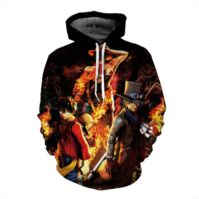 Luffy & sabo Fashion 3D Hoodies - The Night