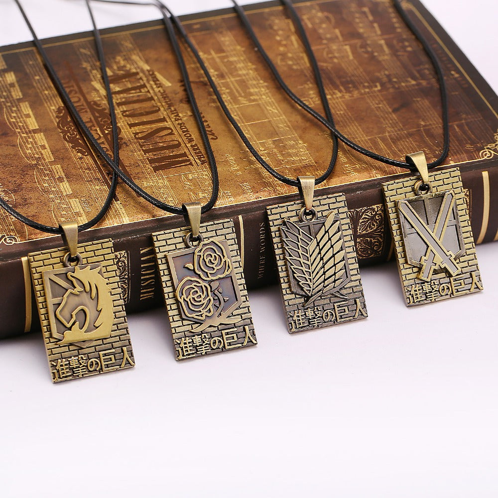 4 styles Attack On Titan necklace - The Night