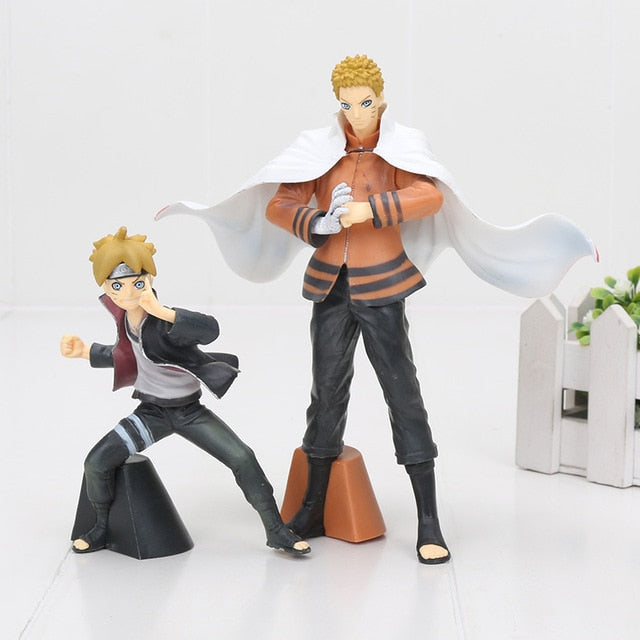 Naruto boruto 2pcs/set PVC Anime figure toy - The Night
