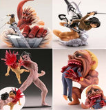 4pcs/ set Attack on Titan Action Figure - The Night