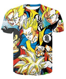 Dragon Ball Super Saiyan 3D T-Shirt - The Night
