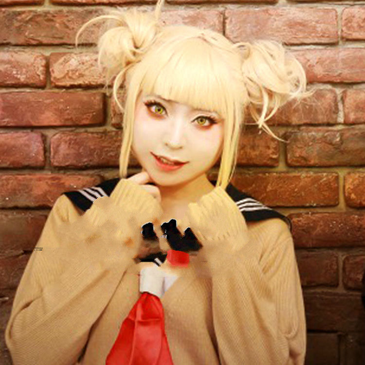 Himiko Toga Light Blonde Ponytail Cosplay Wig + Cap - The Night