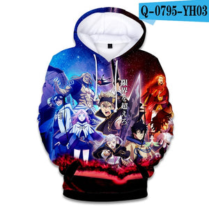 Black Clover 3D hoodie - The Night