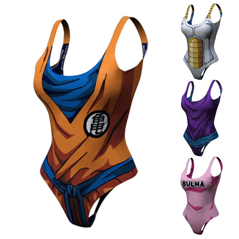 Bodysuit Swimsuit Anime Dragon Ball Cosplay - The Night