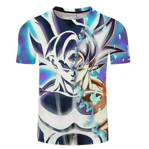 Dragon Ball Super Saiyan Transform 3D T-Shirt - The Night