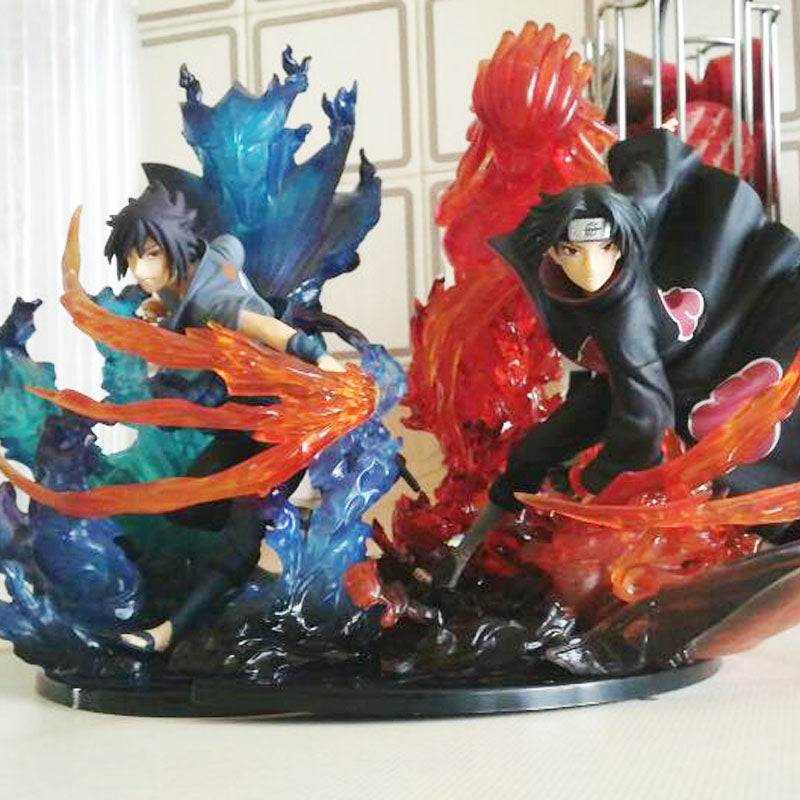 Uchiha Itachi & Uchiha Sasuk Action Toy Figures - The Night