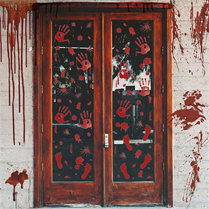 Horror Halloween Decoration Wall Stickers Bloody