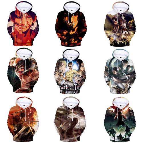 Hoodies 3D Fashion Attack on Titan - The Night