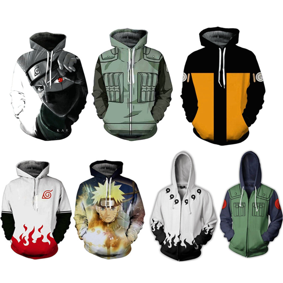 Naruto Hoodies 3D Cosplay - The Night