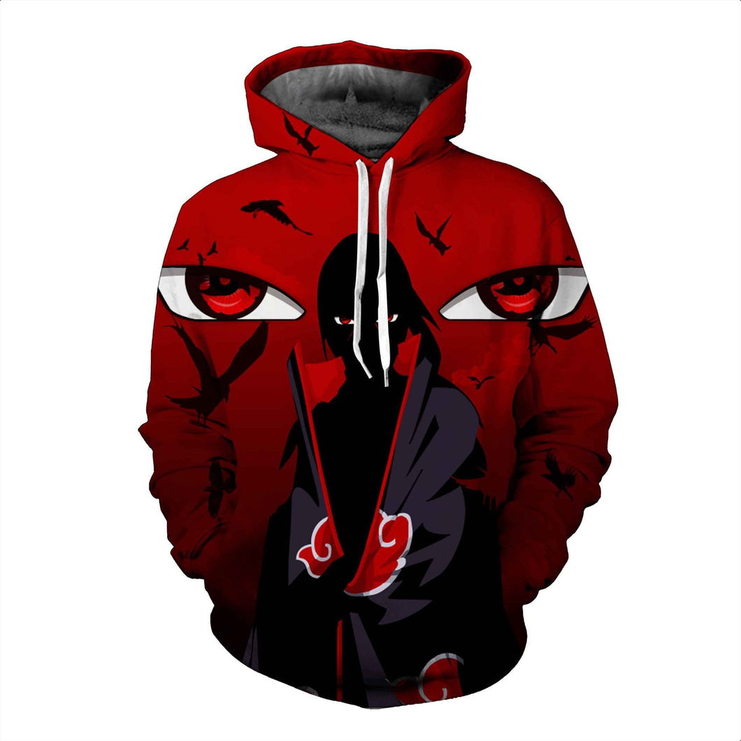 Fashion 3d  Hoodies Itachi Uchiha Mangekyou Sharingan - The Night