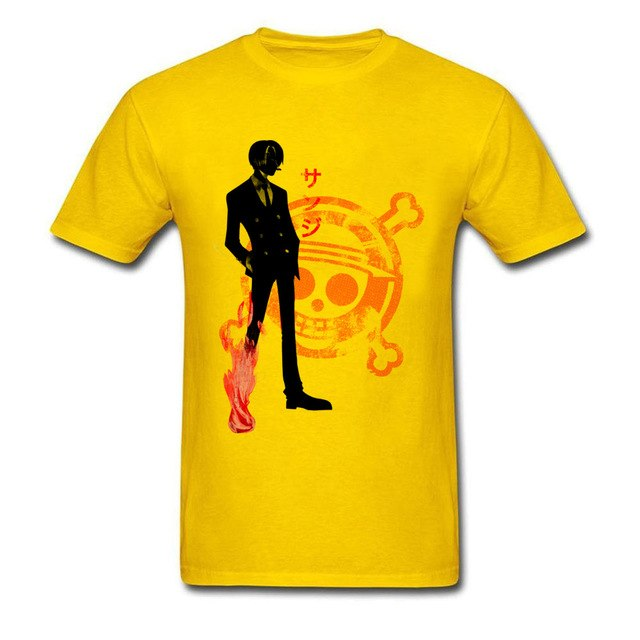 T-shirt Sanji Fire Custom Cotton - The Night