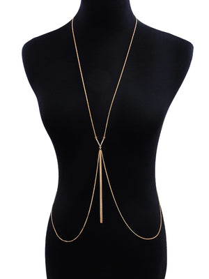Bar & Tassel Decorated Body Chain 1pc
