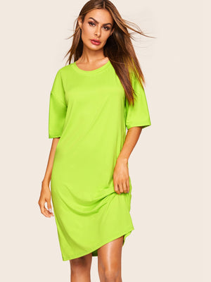 Neon Drop Shoulder Nightdress