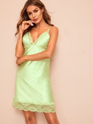 Honeydew Satin Nightdress