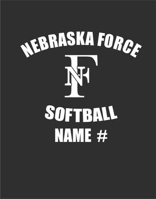 Force Baseball and Softball Window Decals