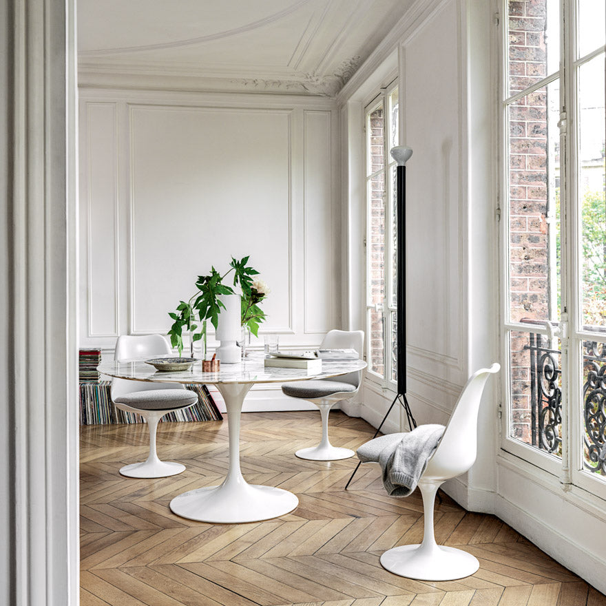 "Saarinen Marble Round Dining Table 42""(107 cm) 
