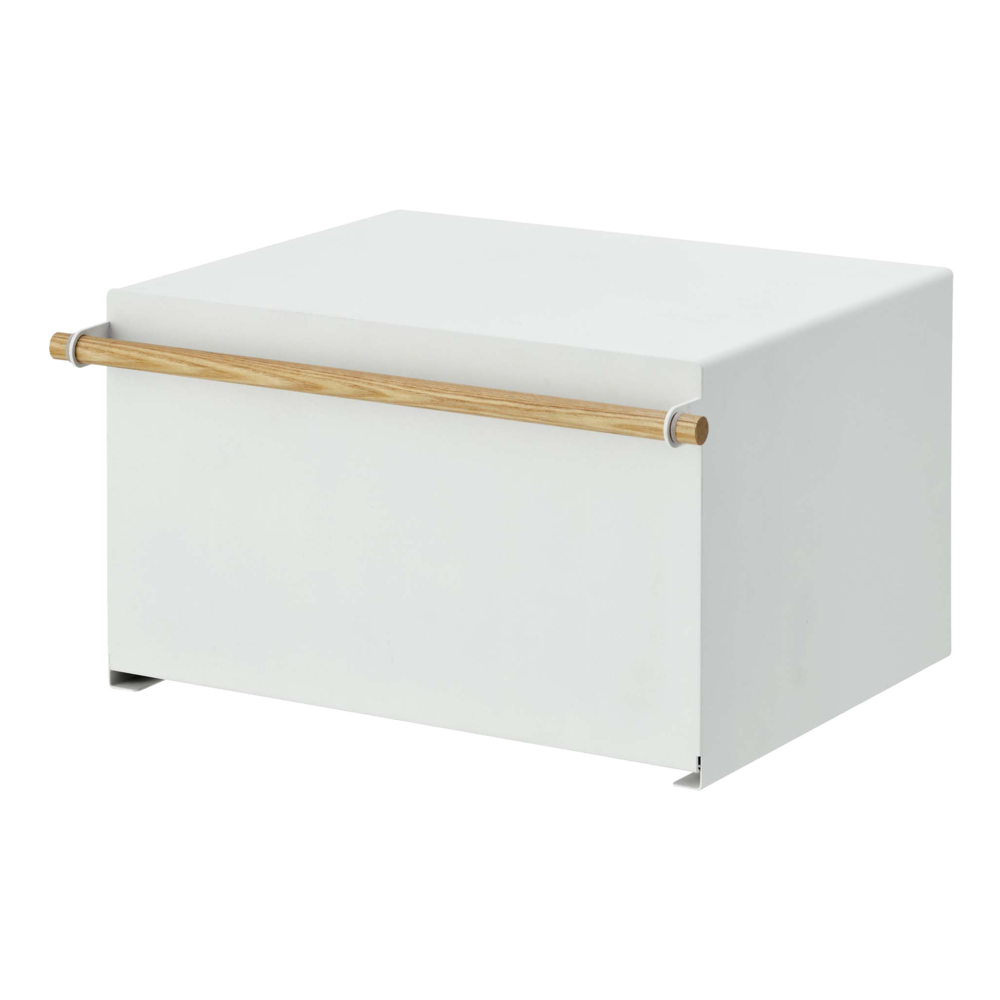 Bread Box | White Steel + Wood