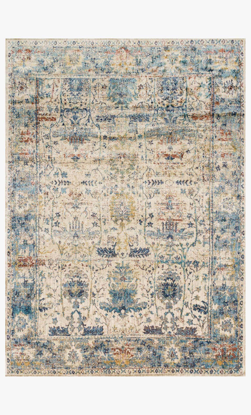 Anastasia Rug | Sand & Light Blue