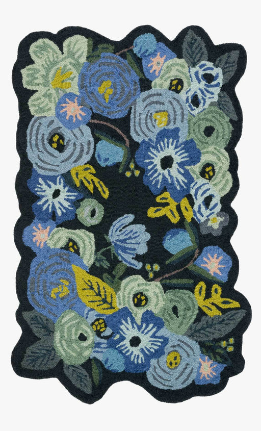 Bouquet Rug | Garden Party Blue