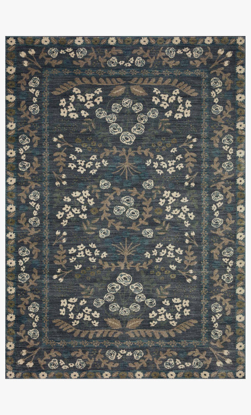 Fiore Florence Rug | Navy & Grey