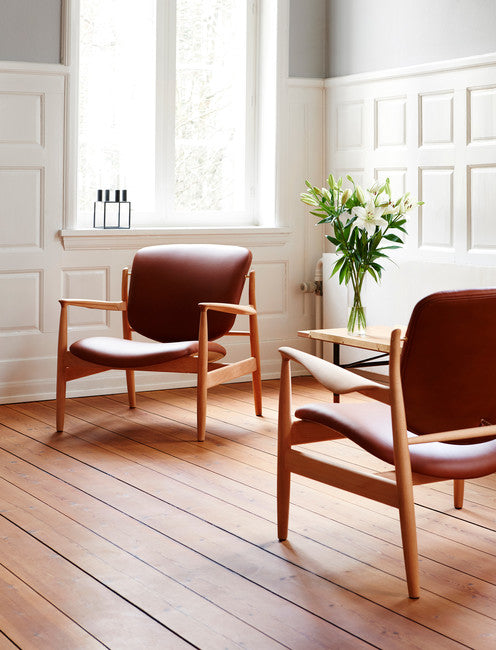 France Chair | Oiled Oak & Cognac