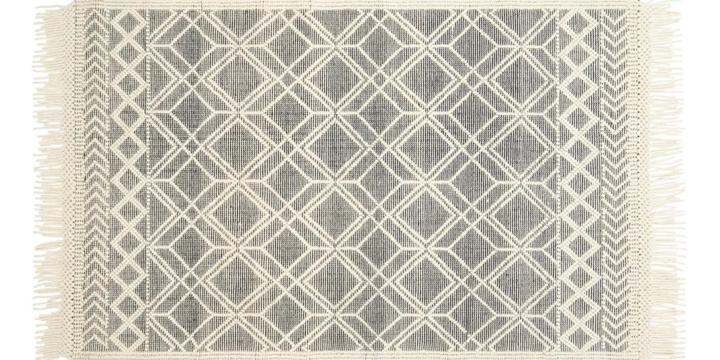 Holloway Rug | Black & Ivory