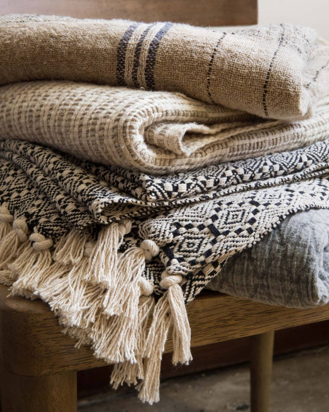 Lynwood Throw | Natural & Multi