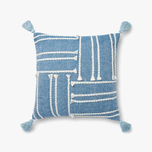 Blue & White Braid Pillow