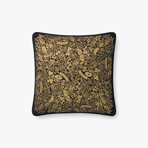 Black & Gold Little Flowers Pillow
