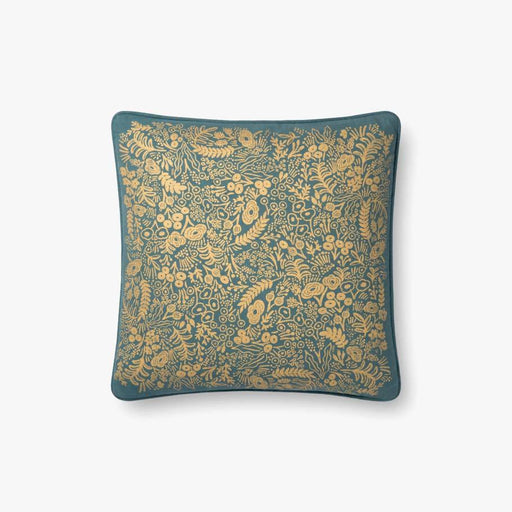 Emerald & Gold Little Flowers Pillow