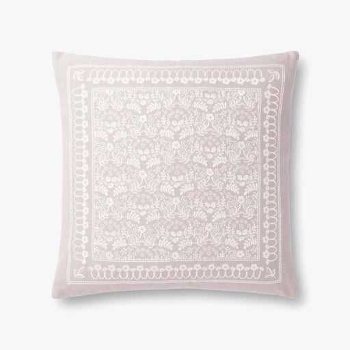Grey Romantic Floral Pattern Pillow
