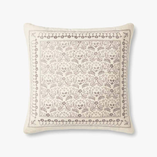 Ivory Romantic Floral Pattern Pillow