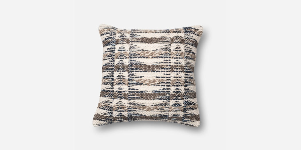 Grey Weaved Pillow