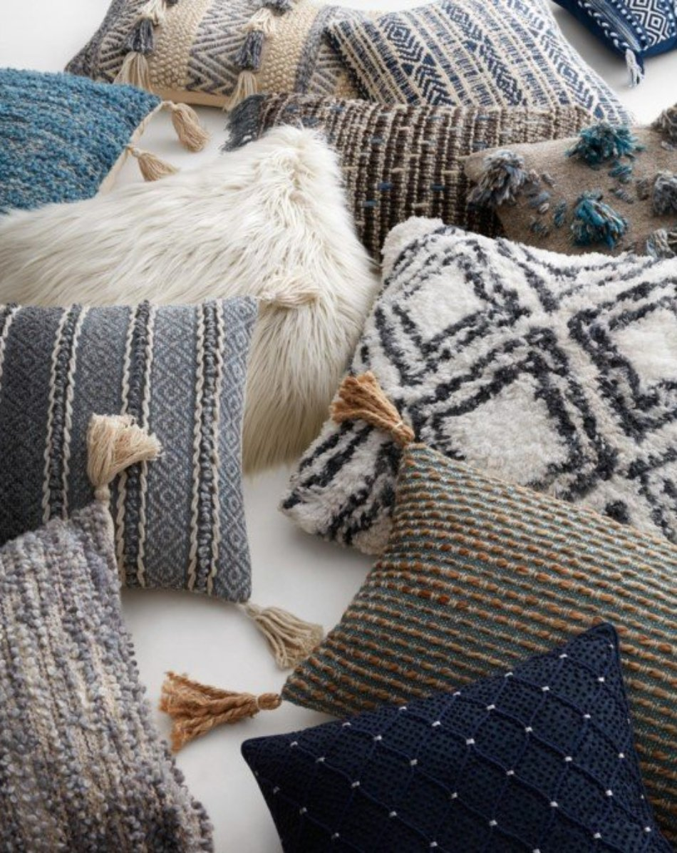 Grey Zig-Zag Pillow