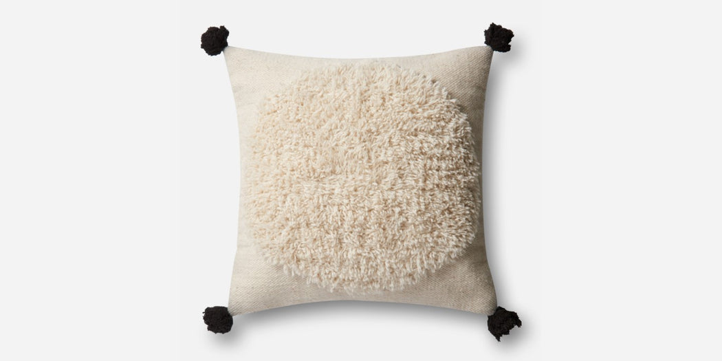 Ivory Pillow with Black Tassel (2 Types)