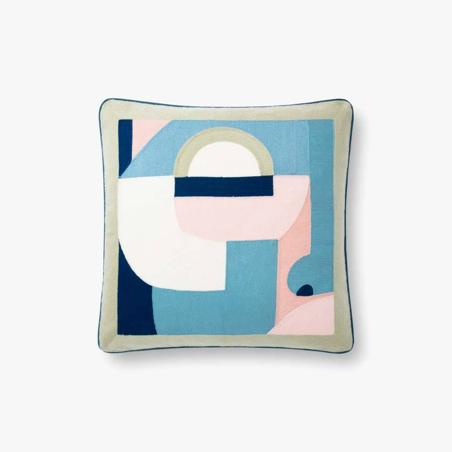Graphic Blue Pillow