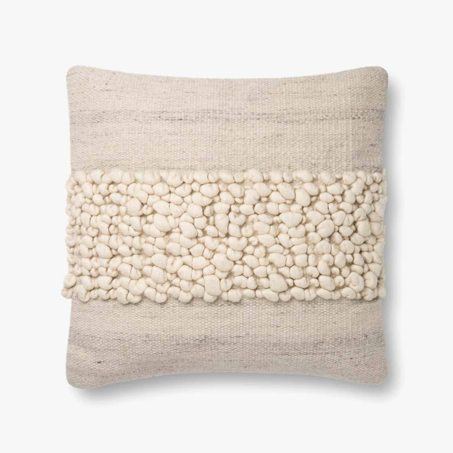 Ivory & Pebble Pillow [2 Sizes]